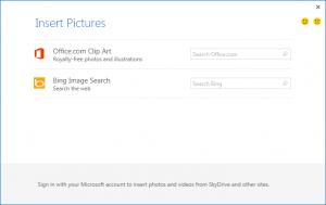 New Insert Online Pictures feature in Outlook 2013