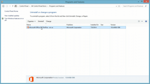 completed office 2013 proplus installed programs and features