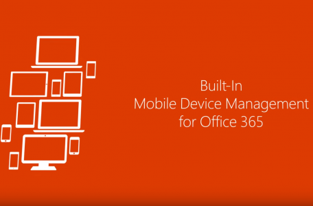 Built-In Mobile Device Management for Office 365