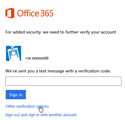 Office 365 Multifactor Authentication Login Screen